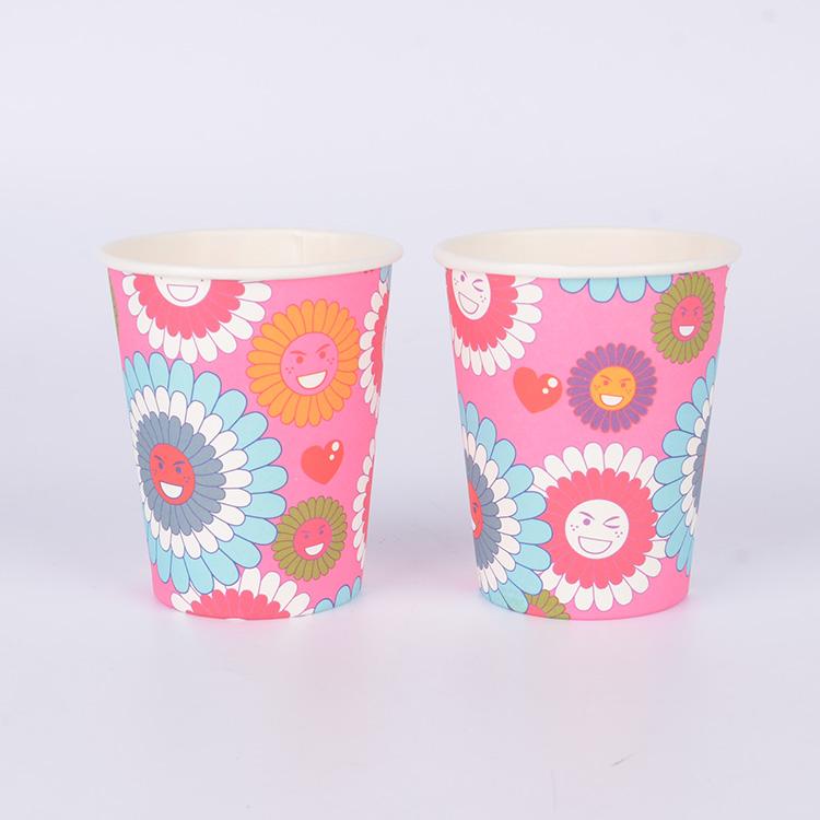厂家直销 一次性纸杯 卡通印花纸杯 派对纸杯批发