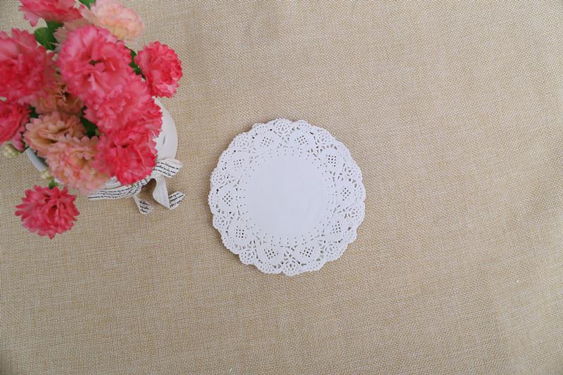 背卡套装花底纸 圆形烘焙蛋糕纸垫 一次性食品通花纸