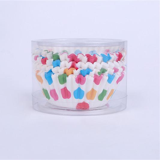 PVC桶装圆形一次性纸制烘焙蛋糕杯