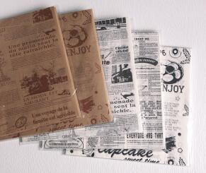 花色汉堡纸 面包纸 可定制