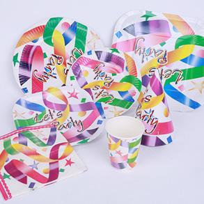节日聚会纸制品7件套装