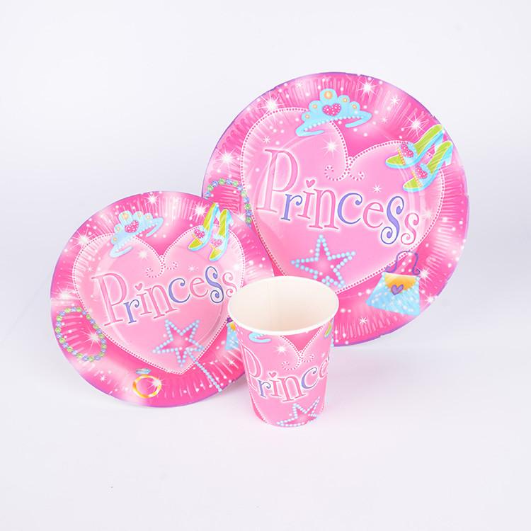 粉色系列女孩生日派对套装 专供出口食品级