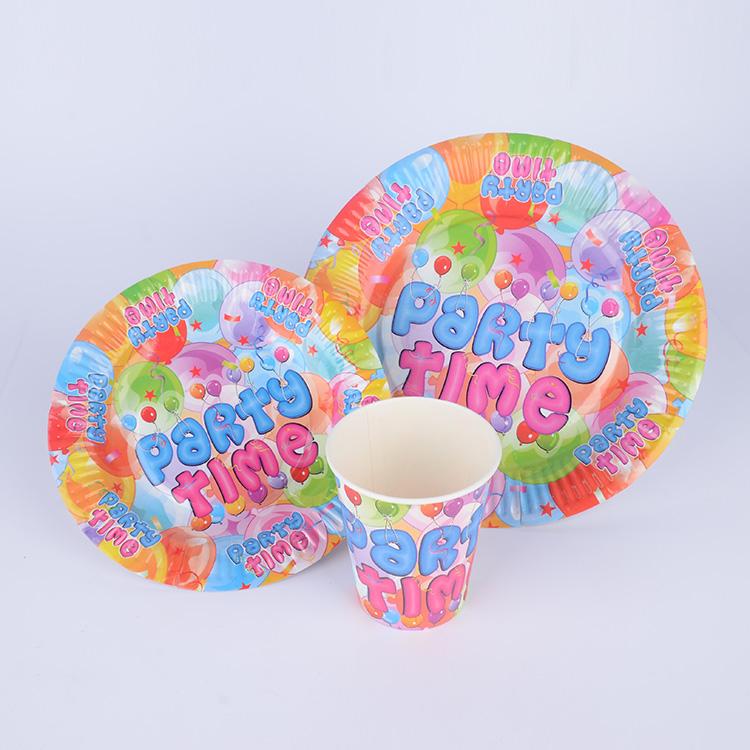 厂家专业定制 儿童生日派对餐具套装 食品级纸杯纸盘