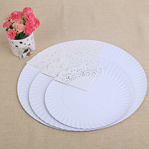 圆形蛋糕纸盘花底纸套装 专业烘焙派对纸质用品