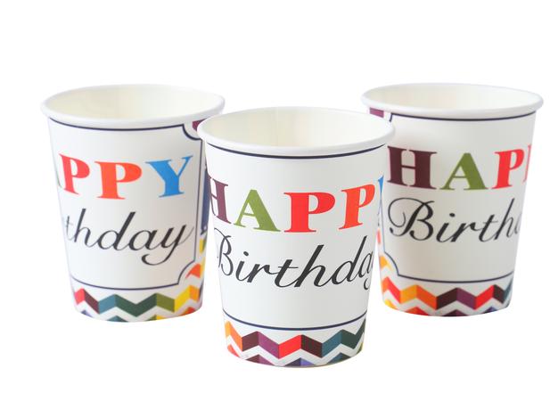 节日纸杯 派对纸杯 生日纸杯 水性油墨印刷安全环保食品级
